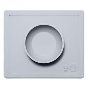 Happy bowl plato-mantel silicona gris claro