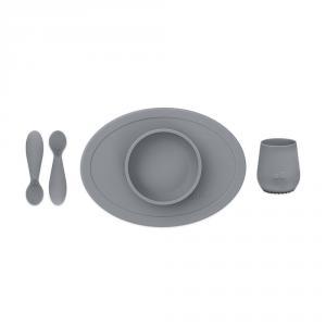 Set primeros alimentos silicona gris oscuro