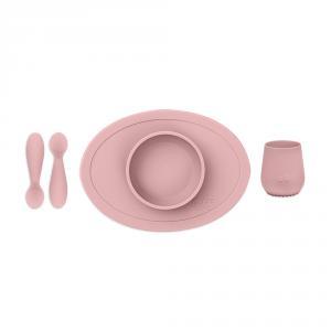 Set primeros alimentos rosa pálido