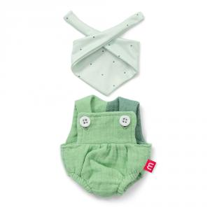 Conjunto peto verde con pañuelo 21cm
