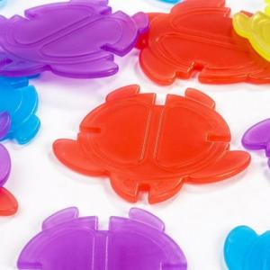 Tortugas translúcidas colores 20pzas para mesa de luz