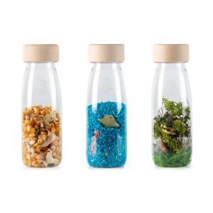 Set 3 botellas sensoriales Nature
