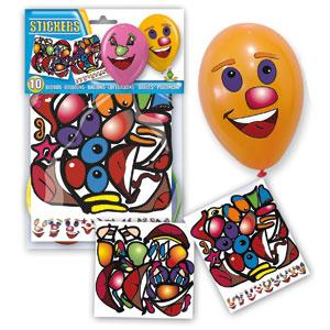 Bolsa 10 globos con pegatinas