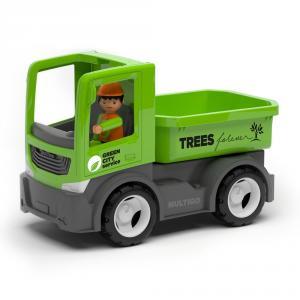 Camión de carga con conductor