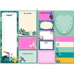Mi cuaderno tropical de notas adhesivas