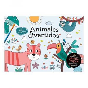 Mis blocs creativos: Animales divertidos con pintura mágica