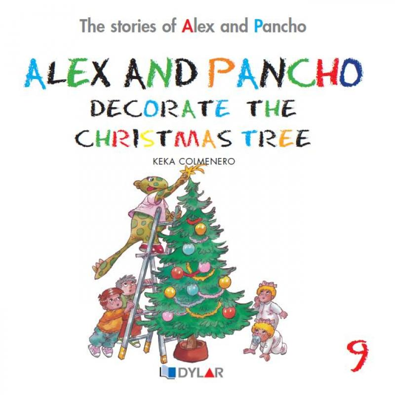 Alex and Pancho decorate christmas  tree. Dylar 9
