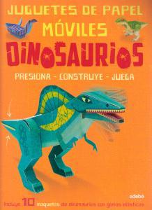 Juguetes de papel móviles. Dinosaurios.