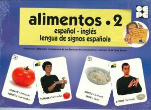 Alimentos 2: español, inglés, lengua de signos española