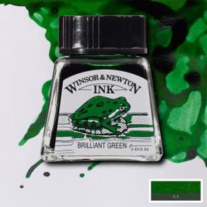 Tinta china Winsor and Newton verde brillo