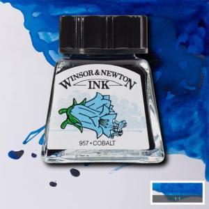 Tinta china Winsor and Newton azul cobalto