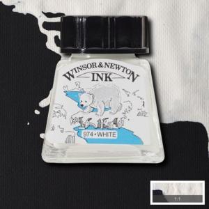 Tinta china Winsor and Newton blanco