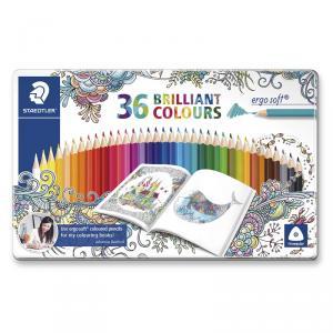 Lápiz color Ergosoft caja metal 36 colores brillantes