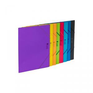 Carpeta solapas cartón Luz con goma color surtido