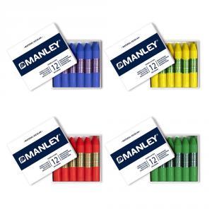 Cera unicolor caja 12 unidades Manley