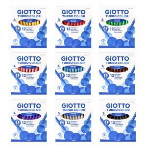 Rotulador unicolor 12 unidades Turbocolor Giotto