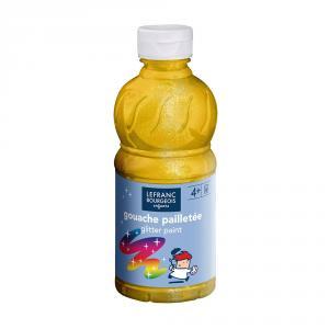 Témpera líquida purpurina amarillo 250ml.