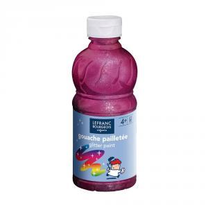 Témpera líquida purpurina frambuesa 250ml.