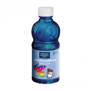 Témpera líquida purpurina azul 250ml.