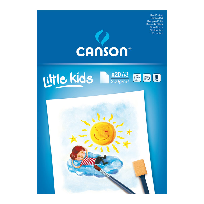 Bloc dibujo Dedos Little Kids A3