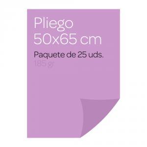 Cartulina color Malva Pliego Iris (25 uds)