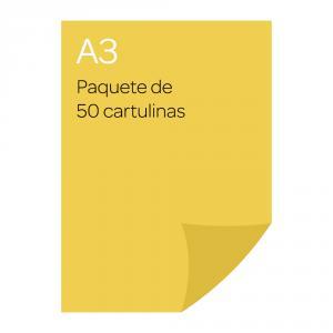 Cartulina A3 Iris 50 Amarillo limón
