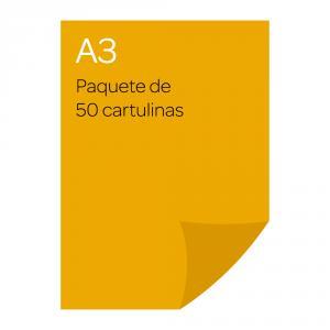 Cartulina A3 Iris 50 unidades amarillo gualda