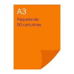 Cartulina A3 Iris 50 unidades mandarina