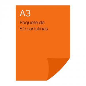 Cartulina A3 Iris 50 unidades naranja