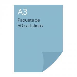 Cartulina A3 Iris 50 unidades azul cielo