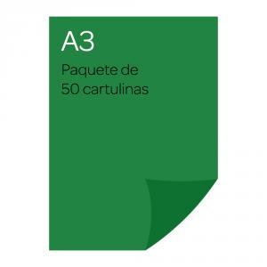 Cartulina A3 Iris 50 unidades verde abeto