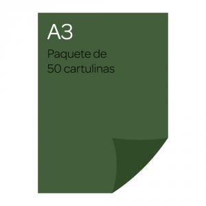 Cartulina A3 Iris 50 unidades verde Amazonas