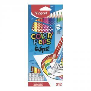 Lápiz color Peps borrable 12 colores