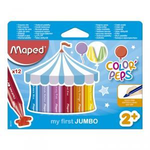 Cera Wax Jumbo Color Peps 12 colores