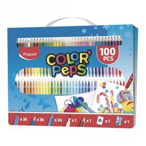 Maletín Color Peps 100pzas colorear