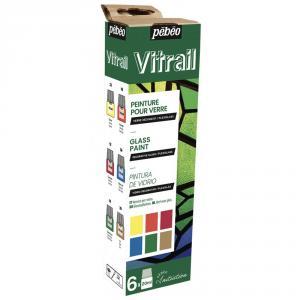 Set iniciación vitrail 6 colores 20ml
