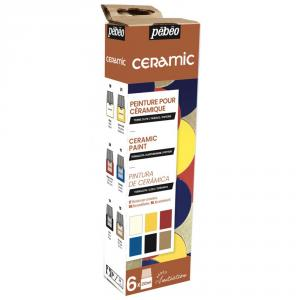 Set iniciación pintura cerámica 6 colores 20ml