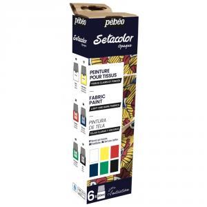 Set iniciación pintura setacolor opaque mate 6 colores 20ml