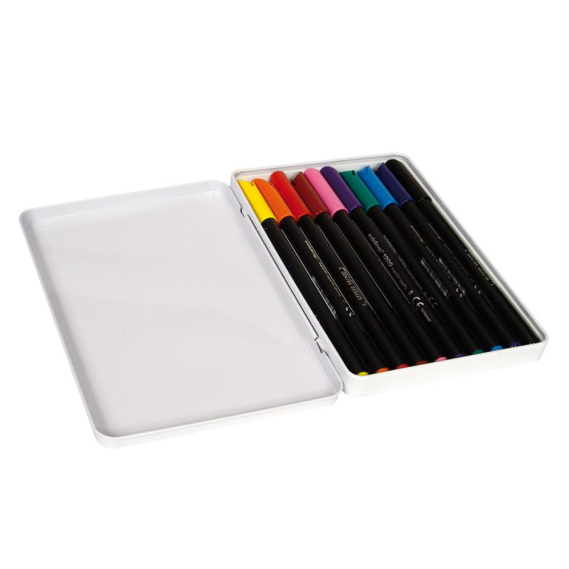 Rotulador Edding 1200 caja de 10 colores
