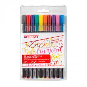 Rotulador punta de pincel Edding 1340 10 colores