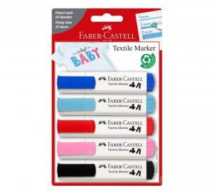 Marcador textil baby party blíster 5 colores