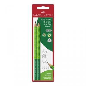 Lápiz gráfito Grip Jumbo blíster 2 unidades verde