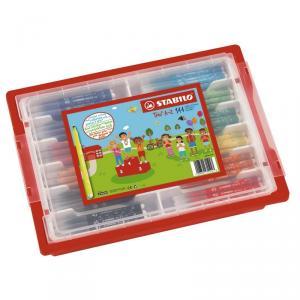Rotulador Stabilo Trio A-Z schoolpack (caja 144 unidades)