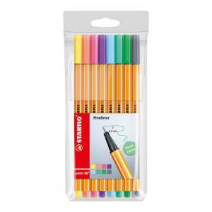 Stabilo Point 88 blíster 8 colores pastel