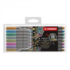 Stabilo Pen 68 metallic 8 colores