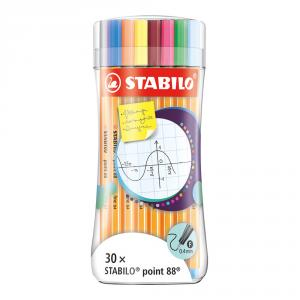 Stabilo Point 88 Sleeve pack 30 colores