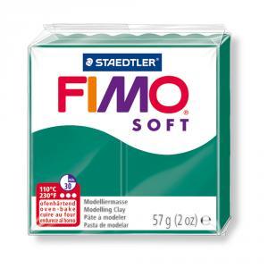 Pasta Fimo Soft Verde esmeralda 56gr