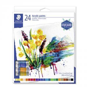 Pintura acrílica tubo 12ml set 24 colores