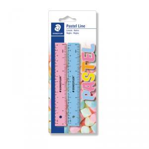 Regla 20 cm Pastel Line blíster 2 unidades