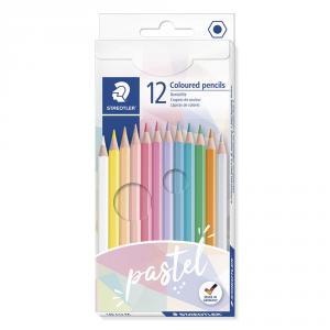 Lápiz color hexagonal 12 colores pastel